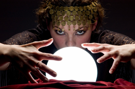 psychich with crystal ball