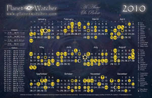PlanetWatcher 2010 Calendar - click for larger image