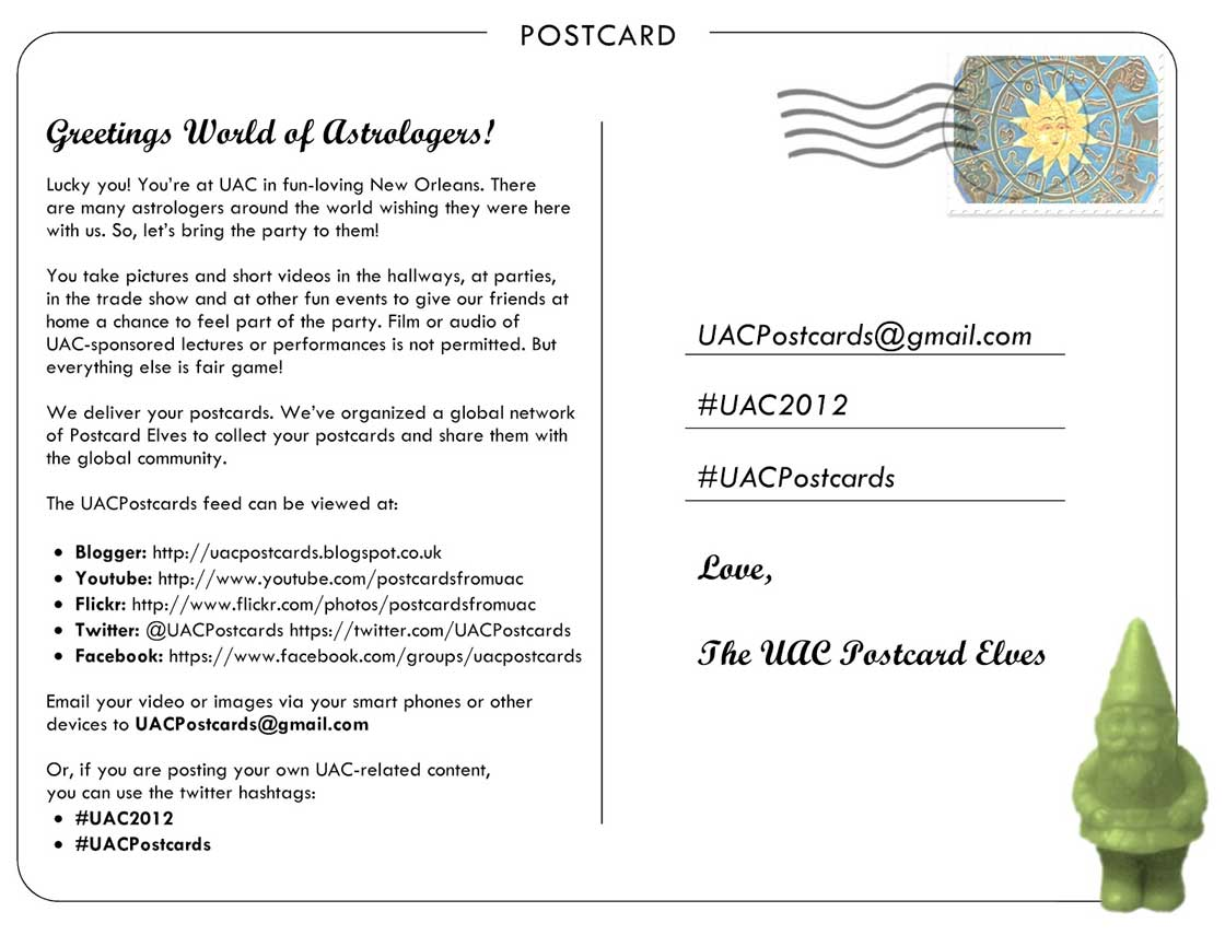 United astrology conference 2012 recap postcards from uac nvjuhfo Gallery