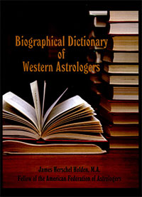 James Holden: Biographical Dictionary of Western Astrologers